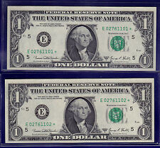 1969-D $1 Federal Reserve Note frn E-STAR AU (Almost Uncirculated)