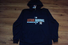 HOUSTON ASTROS MAJESTIC MLB TEAM FAVORITE 1/4 ZIP AUTHENTIC HOODED SWEATSHIRT