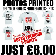 custom tshirt printing - your picture printed on ftlm tees personalised t shirt