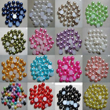 NEW! Half Round Pearl Bead Flat Back Size Scrapbook for Craft Pick colo 6,8,10mm