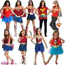 WONDER WOMAN DC COMICS SUPERHERO KIDS LADIES GIRLS ADULT FANCY DRESS COSTUME