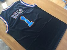 Tune Squad Bugs Bunny1 Jersey Movie Space Jam  Black Basketball  Shirt New