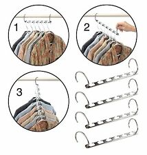 Metal Hanger Organizer Cascader Wonder Closet Organizer Space Saving