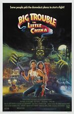BIG TROUBLE IN LITTLE CHINA Movie Silk Fabric Poster Kurt Russell  Kung-Fu