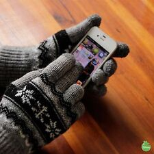 Snowflake│Striped 1 Pair Unisex Double Layered Touch-Screen-Friendly Gloves