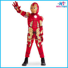 Marvel Avengers Age of Ultron Iron Man Light Up Costume for Kids sizes 5-8 new
