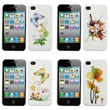 For Apple iPhone 4S/4 Indigo Butterfly Phone Back Protector Case Cover