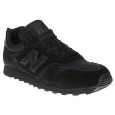 New Mens New Balance Black 373 Suede Trainers Mono Lace Up