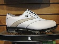 NEW FootJoy DryJoy Tour Mens Golf Shoes #53581 White/Khaki -Choose Size/Width