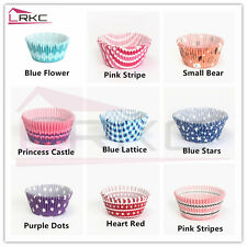 LRKC 100pcs Paper Cake Cups Liners Baking Cupcake Cases Muffin Wrapper for Party