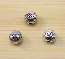 12/25/50 pcs wholesale:ancient beautiful Tibet silver Peace sign interval beads