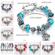 Fashion crystal Coloured glaze Tibetan silver bracelet LOVE DIY Bracelet jewelry