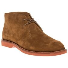 New Mens Polo Ralph Lauren Tan Carsey Suede Boots Chukka Lace Up