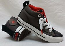 New! Boys Toddler Converse All-Star- Mid-Tops Grey/Tomato Red/Black 634593f F8