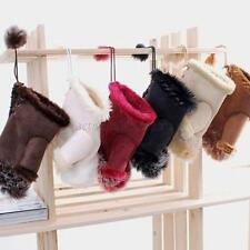 Fashion Warm Winter Rabbit Fur Fingerless Gloves Hand Mittens For Women Girls