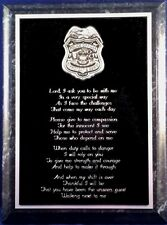 POLICE OFFICER'S PRAYER PLAQUE - Can be Personalized - Support Blue Gift
