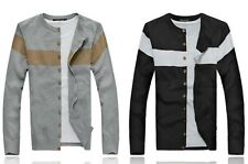 New Stylish Mens Slim Sweater Jumper Pullover Cardigan Button Up Knitwear Jacket