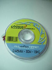 CORTLAND CLIMAX ALL H20 FLUOROCARBON FLY FISHING TIPPET 30m Various Sizes