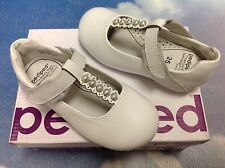 Pediped Flex Victoria White T-Strap Dress Shoes Size 27 / US Toddler Size 10
