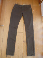 FAT FACE STRETCH COTTON TWILL TROUSERS SKINNY SLIM  JEANS OLIVE KHAKI GREEN 6