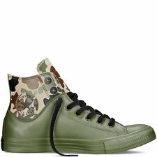 CONVERSE Chuck Taylor All Star Camo Rubber Hi Canvas Shoes Herbal 151068C A+