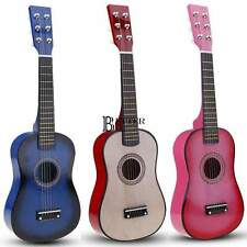 """23"""" Mini Guitar Basswood Kid's Musical Toy Acoustic Instrument 6-string 4 Colors"""