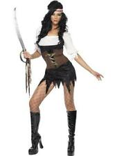 Sexy Pirate Fever Adult Ladies Fancy Dress Costume 8-16