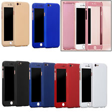 Hybrid Full Body Protect Tempered Glass & Hard Slim Case For iPhone 6S+ Plus 6+