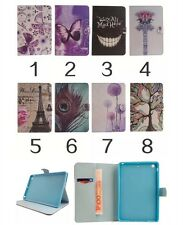 New Drawing Folio Leather Wallet Smart Stand Case Cover For Apple Samsung Tablet