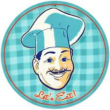 Retro Cook Chef Eat Metal Sign Unique Diner Kitchen Restaurant Wall Decor RPC