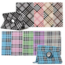 360 Rotating Scotland Plaid Leather Smart Case Cover Stand For Apple iPad Tablet