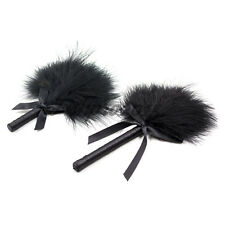 Cute Black Feather Tickler Bowknot Fancy Flirting Tease Whip Couple Game Fun Toy