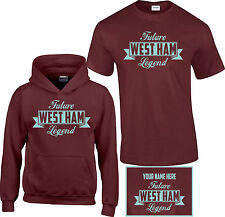 West Ham, Kids,Childrens,Boys, Football,T Shirt, Hoodie, Personalised Free FL