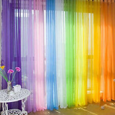 1PC Valances Colorful Floral Tulle Voile Door Window Curtain Drape Panel Sheer