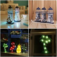 Nautical Lighthouse Lamp Table Electrical LED Light Home Decor Mediterranean