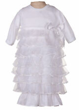 Laura Dare Pretty As A Picture White Frilly Sacque (NB - 6m)