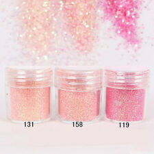 10ml Pink Shining Glitter Super Fine Loose Glitter Powder Nail Art Tips Decor