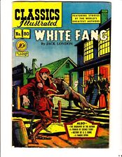 Classics Illustrated 80 (1951): White Fang: Original: FREE to combine- in Good