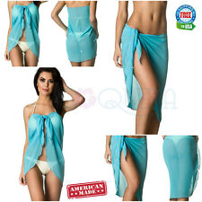 Coqueta Cover Up Bathing Suit Wrap Ladies Chiffon Beach Swimsuit Sarong Pareo