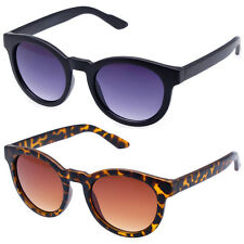 Chic Classic Horned Rim Stylish Round Bold Wayfarer Fashion Sunglasses