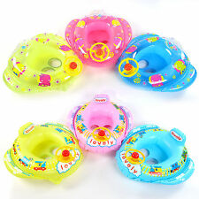 Inflatable Toddler Baby Kids Swimming Ring Seat Float Boat Swim Pool Toy