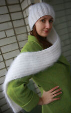 "New collection HAT-SCARF ""SNAKE"" Premium Longhair Mohair hand knit by Jane Rodas"