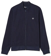 Fred Perry Bomber Track Jacket in Navy J8215