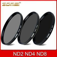 Hot 52/55/58/62/67/72/77/82mm ZOMEI ND2 ND4 ND8 Neutral Density Lens Filter Kit