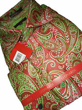 Mens Leonardi High Collar French Cuff Shirt Edition 404 Lime, Red Fancy Jacquard