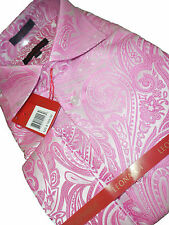 Mens High Collar F/C Leonardi Shirt Edition 393 Beautiful Rose Blush Paisley