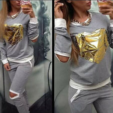 Women's Heart Thick Athletic Tracksuit Sport Suit Running Yoga SweatSuit