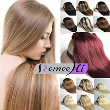 NEW!9pcs 120g Set Clip in Real Remy Human Hair Extension 3 Lengths and 20 Colors