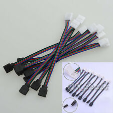4 PIN Female Male RGB Connectors Wire Cable For 3528 5050 SMD LED Lights Newly