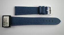 Condor Leather Watch Straps Blue all Sizes Lizard: Genuine Calf New 177R